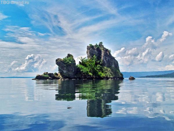 Рабол. Островки появились после извержения