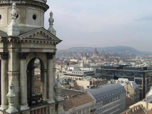 Будапешт. Вид со смотровой площадки базилики Святого Иштвана