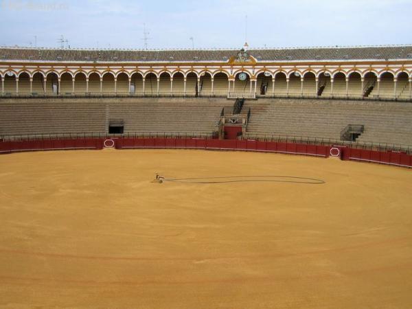 Испания. Севилья. Арена для боя быков Маэстранса