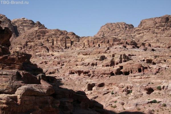 Иордания. Петра. Вид  с горы Jebal Habis