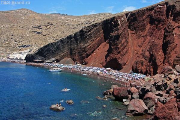 Греция. о.Санторини. Красный пляж