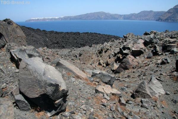 Греция. о. Санторини. Морская прогулка на загадочный вулкан. Неа Камени