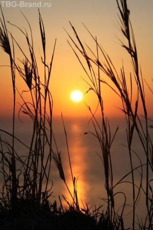 Греция. о. Санторини. Закат в Ие
