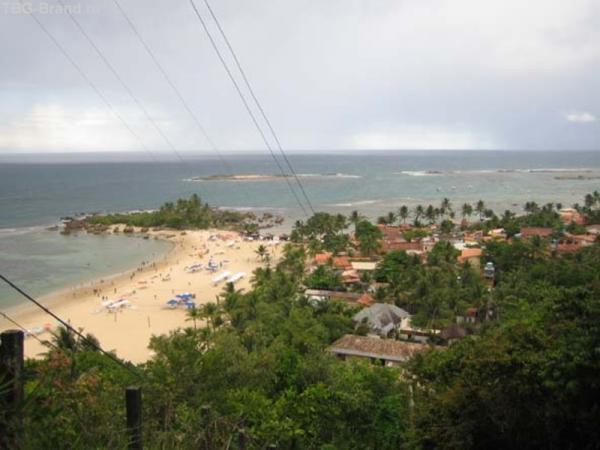 Вид с маяка, где тарзанка, пляж №1