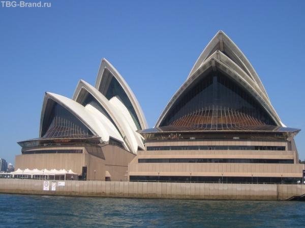 Сиднейская Опера Хауз, вид с моря