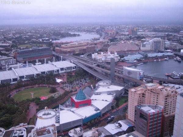 вид с 55 этажа на Darling Harbour
