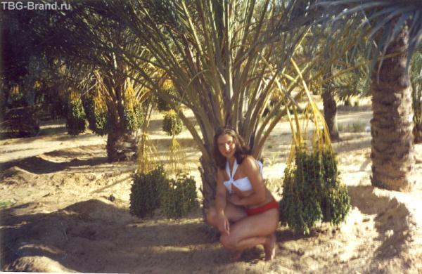 моя импровизация с купальником на фоне финиковых пальм!
