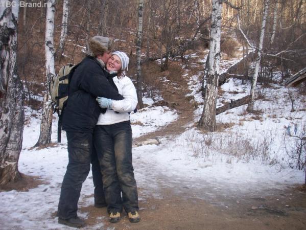"""вот так мы выглядели в конце восхождения:) муж сильно переволновался из-за моего """"полета"""" со скалы."""
