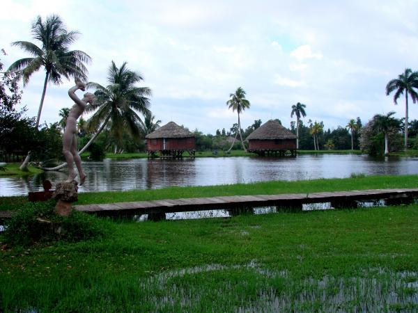 Восстановленная деревня индейцев-таино