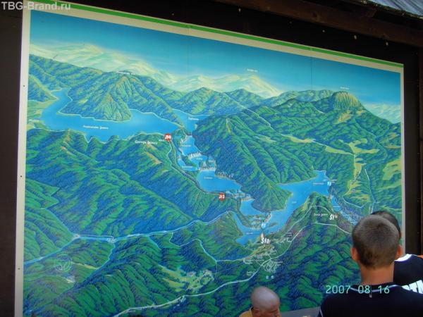 Карта у входа