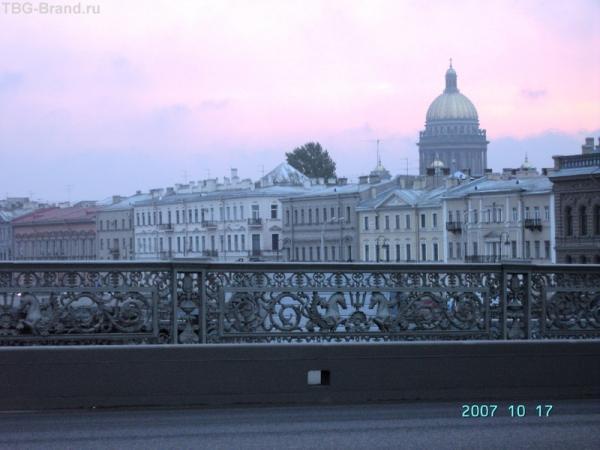 Петербургское небо. Вид с Благовещенского моста.