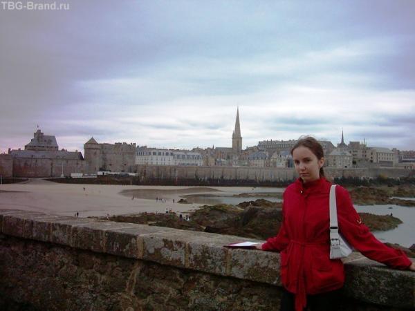 Вид на Сен-Мало из форта