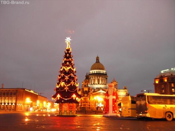 Исаакий, елка, Дед Мороз