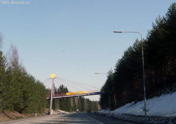дорога к парку Тюккимяки (Tykkimaki).