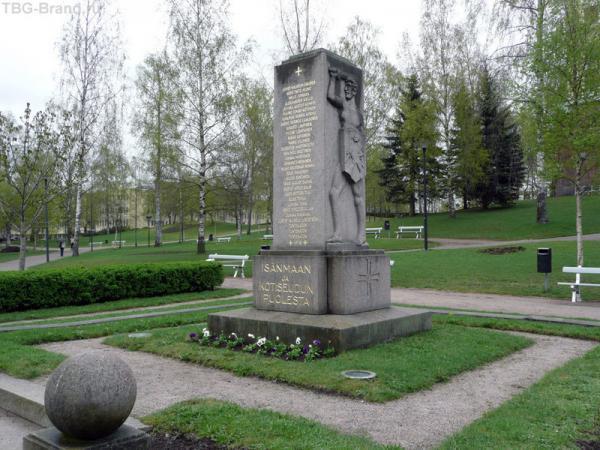 Лаппееранта. Памятник жертвам гражданской войны 1918 года.