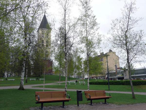 Лаппееранта. Центральная площадь в мае.