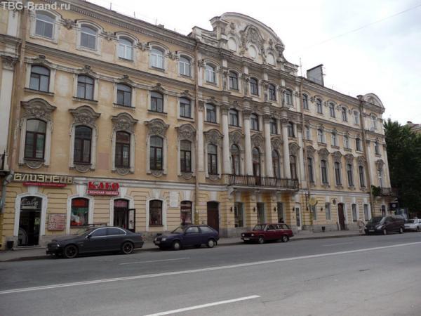 дом № 14 - дом А. Н. Радищева. В 1857—1858 году перестроен и расширен архитектором К. К. Андерсоном
