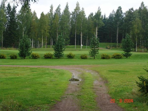 Утро на поле для гольфа