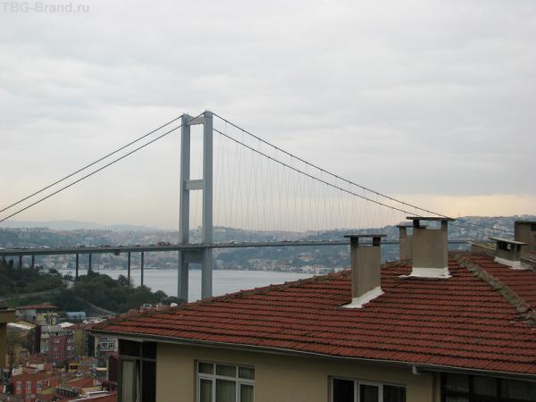 """Недостижимая мечта - мост через Босфор. Почти """"Золотые Ворота""""."""