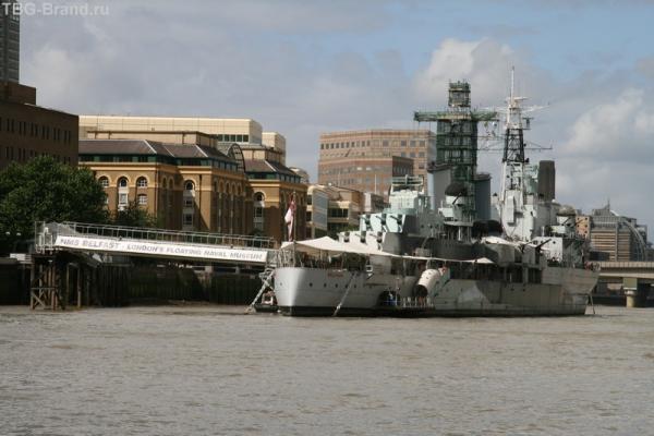 """Крейсер """"Белфаст"""". Военно-морской музей."""