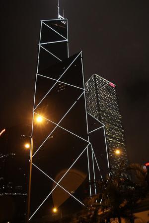 Ночной Гонконг. Пешком в сторону отеля...