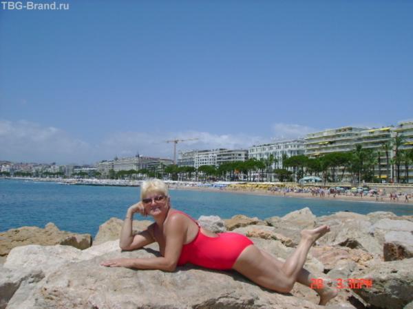 пляж на Лазурном берегу