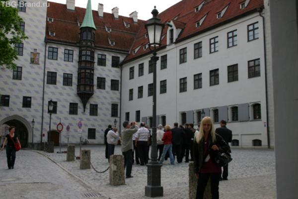 Двор Альте-Хоф первой резиденции династии Виттельсбахов