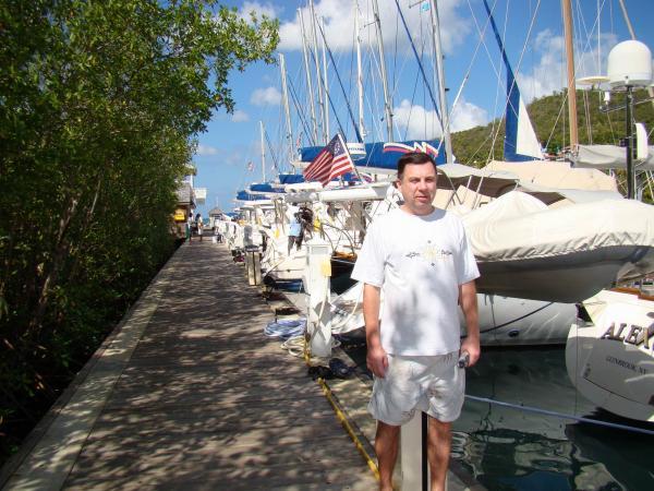 Яхт-порт в бухте Мариго-Бей (остров Сент-Люсия)