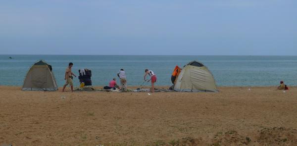 Отели Африки - лагерь на берегу океана в Анголе