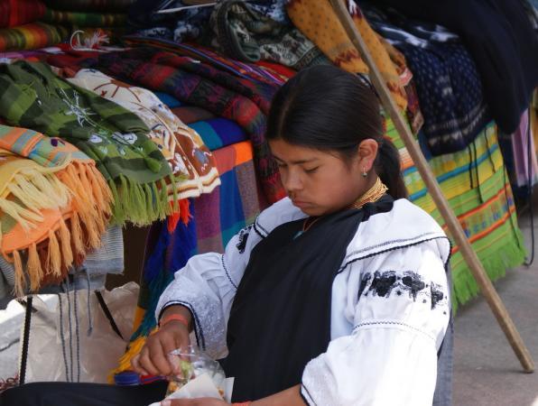 На рынке в Отавало