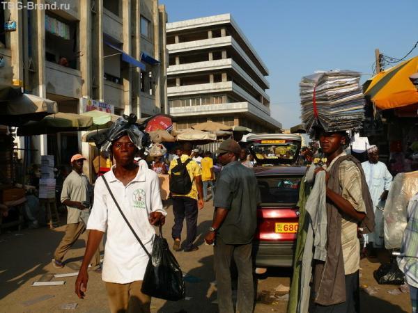 На центральном рынке в Ломе