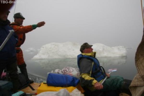 В тумане через ледяные поля