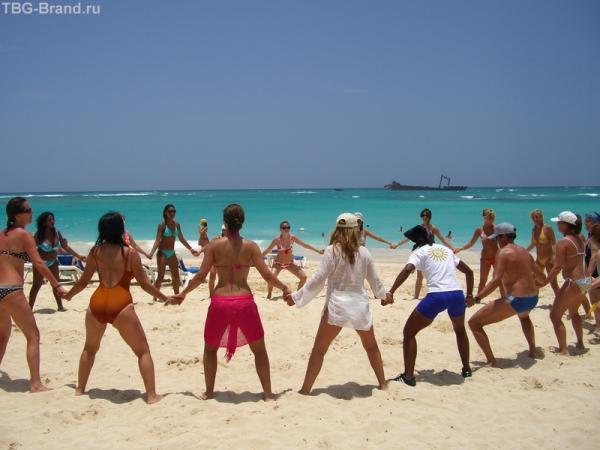 Пляски на пляже