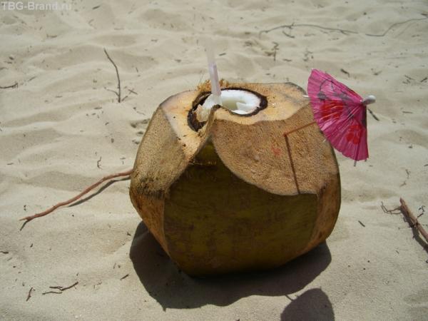 Коктейль в кокосе