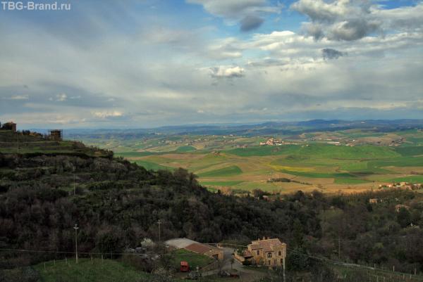 Монтальчино. Вид из города