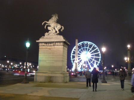 Площадь Согласия и один из коней Марли