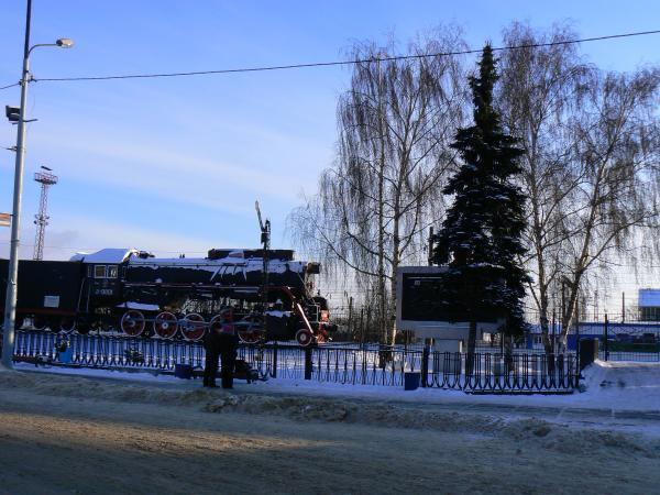 Вокзал, старый паровоз