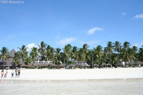 вид на пляж с моря