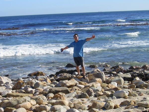 я на фоне слияния двух океанов