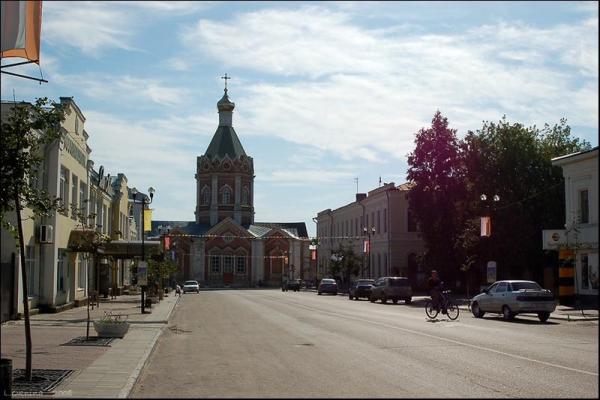 Касимов. Дорога к Вознесенскому собору