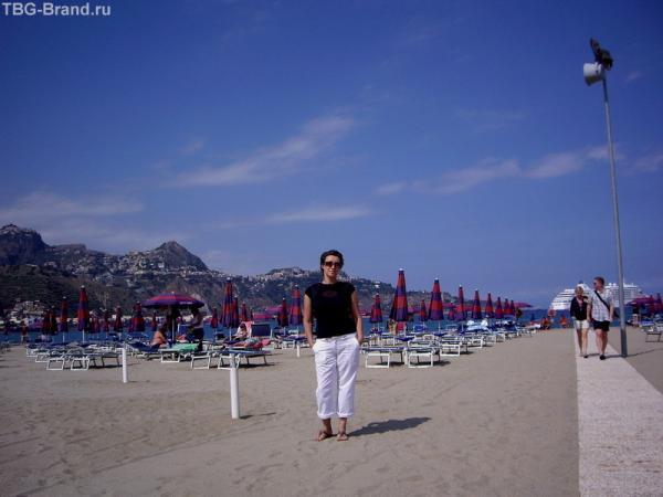Пляж Джардини-Наксос.