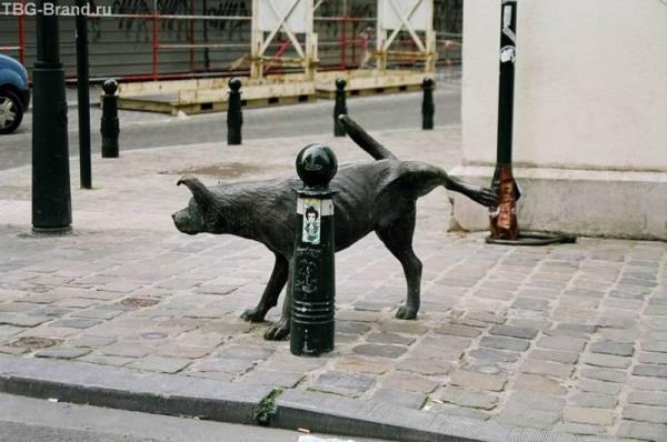 Писающий сОбак в Брюсселе
