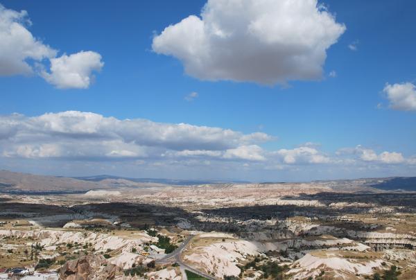Все долины Каппадокии как на ладони.