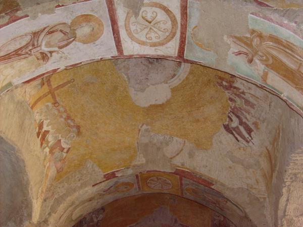 Сохранившаяся роспись. Храм Николая Чудотворца в Демре