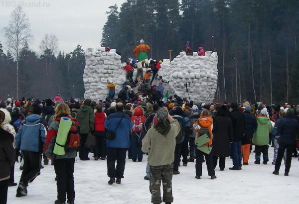 взятие неприступной снежной крепости
