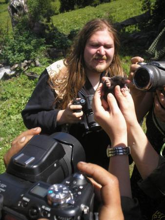 Фотосессия для крота (Крот был отобран у собаки и спасен)