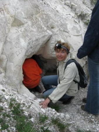 Взод в пещерный храм на горе Шатрище