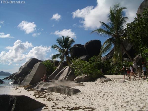 на острове Ла Диг