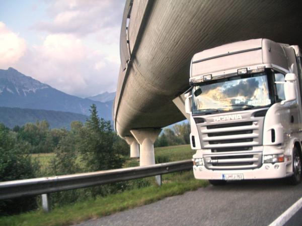 Пересечение дорог в Австрии