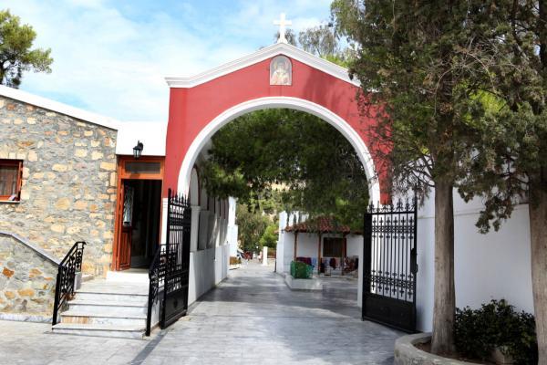 монастырь святого Нектария - вход